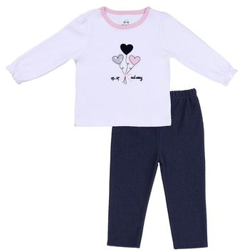 Knit Denim Baby Outfit
