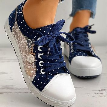 New style mesh board shoes Ladies casual flat shoes