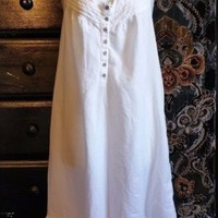 Beautiful Cool Croft & Barrow Cotton (not knit) Spring Summer Nightgown XL