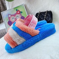 UGG Classic Hot Sale Color Block Plush Slippers Boots Shoes-1