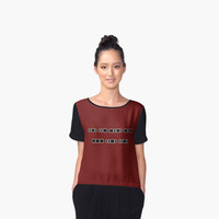 'Rude Morse Code' Women's Chiffon Top by ChessJess