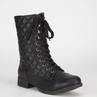 Bamboo Fighter Womens Boots Black  In Sizes
