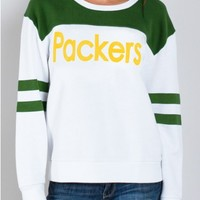 Junk Food Clothing - NFL Green Bay Packers Sweatshirt - NFL - Collections - Womens