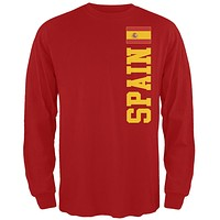 World Cup Spain Red Long Sleeve T-Shirt