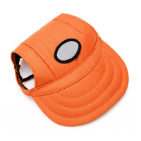 1pcs Pet Dog Canvas Hat Sports Baseball Cap with Ear Holes for Small Dogs Size S M