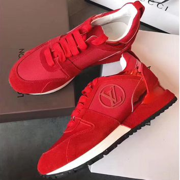 Louis Vuitton Women Fashion Casual Flats Shoes Sneakers Sport Shoes-7