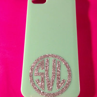 """Glitter Monogram in Circle for iPhone 2"""""""