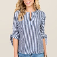 Lakyn Cold Shoulder Striped Top