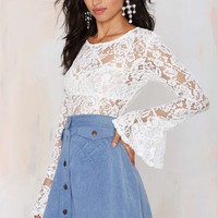 Oh My Love Stairway to Heaven Lace Top