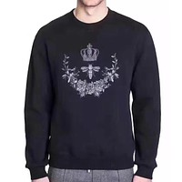 Dolce&Gabbana Fashion Casual Pattern Embroidery Top Sweater Pullover