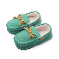 Newborn Girl Boy Loafers Slipper Tooddler Kid Slip-On Indoor Baby Soft Shoes S01