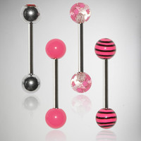 Pink Swirl Barbell 4-Pack