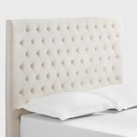 Ivory Jaelyn Tufted Queen Headboard