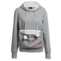 Cat Hoodie With Cuddle Pouch