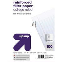"""up & up® - 100ct College Ruled Reinforced Filler Paper - 8.5""""x11"""""""