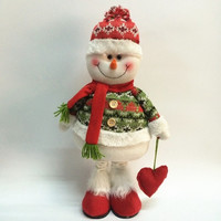 Table Ornament Snowman/  Deer/ Cute Santa Claus Design Indoor Christmas Standing Decoration Supplies = 1741733124