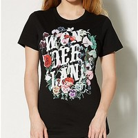 Flowers Alice in Wonderland T shirt - Spencer's