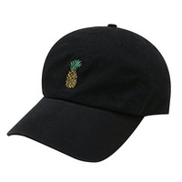 Pineapple Embroidered Cotton Baseball Outdoor Sports Cap Hat