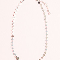 Silver Mirror Charm Link Necklace - Jewelry - Accessories