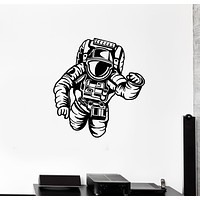 Vinyl Wall Decal Astronaut Spaceman Boys Kids Room Space Stickers Mural (g3521)