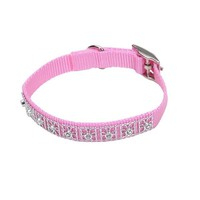 "Coastal Pet Nylon Jeweled Dog Collar 3/8"" x 12"" Pink"