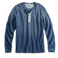 Lucky Brand Indigo Henley Mens - Light Indigo