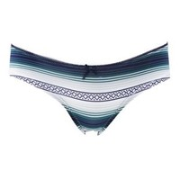 Blue Combo Lace-Back Aztec Print Panties by Charlotte Russe