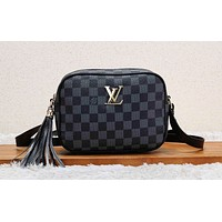 LV hot selling lady casual shoulder bag fashion matching color printing shopping bag #2