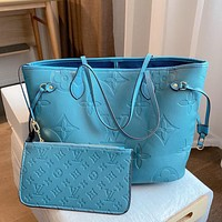 Louis Vuitton LV new style foreign fashion all-match two-piece simple one-shoulder handbag