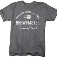 Men's Brewmaster T-Shirt Famously Brewed Beer TShirt Home Brewing Tees Gift Idea