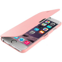 Light Pink Magnetic Flip Wallet Case Cover Pouch for Apple iPhone 6 Plus 6S Plus (5.5)