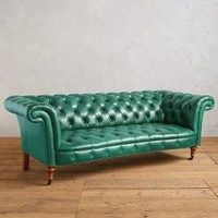 Premium Leather Olivette Sofa by Anthropologie