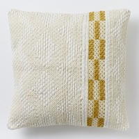 Diamond Color Stripe Pillow Cover - Horseradish