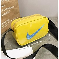 NIKE Newest Hot Sale Women Men Purse Shoulder Bag Crossbody Satchel Yellow