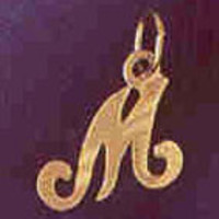 14K GOLD INITIAL CHARM - M #9564