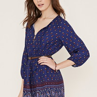Belted Abstract Print Dress | Forever 21 - 2000186914
