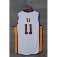 White Lakers #11 Yi Basketball Jersey New Arrival Men's Basketball Shirts Cheap Jerseys Stitched Name and Number