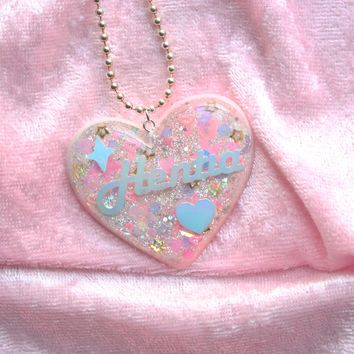 Pink Hentia Heart Pendant Necklace