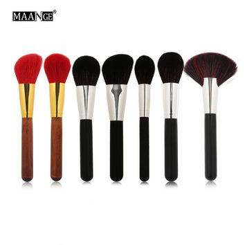 7pcs Professional Natural Goat Hair Makeup Brushes Set Power Blush Cosmetic Make Up Brush Beauty Face Essential Tool New Quality