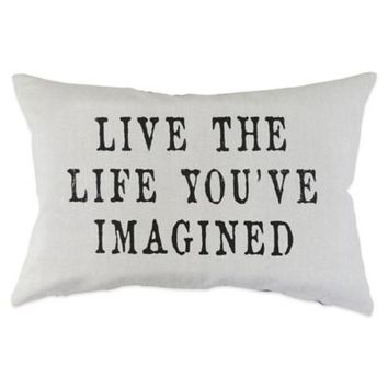 """The Vintage House by Park B. Smith® """"Live Life"""" Oblong Throw Pillow"""