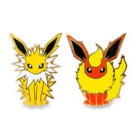 Jolteon and Flareon Pokémon Pins (2 Pack)