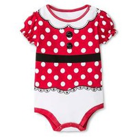 Disney Baby Girls' Minnie Mouse Bodysuit Red