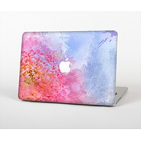 """The Pink to Blue Faded Color Floral Skin Set for the Apple MacBook Air 11"""""""