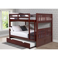 Abigail Full Bunk Bed with Trundle