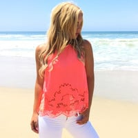 Namaste Lotus Blouse In Neon Pink
