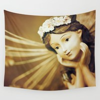 Daydreamer - Vintage Angel Wall Tapestry by Legends Of Darkness Photography