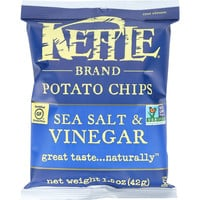 Kettle Brand Potato Chips - Sea Salt and Vinegar - 1.5 oz - case of 24