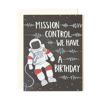 Mission Control Birthday Card