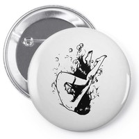 drowning Pin-back button