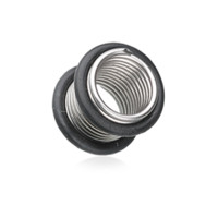 Spring Coil No Flare Ear Gauge Tunnel Plug Body Jewelry Surgical Steel